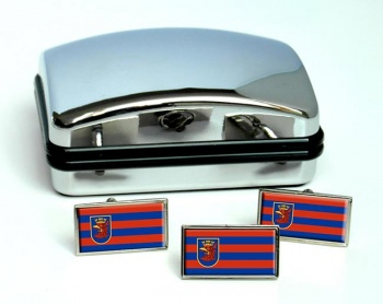 Szczecin (Poland) Flag Cufflink and Tie Pin Set