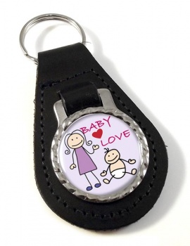 Baby Love Leather Key Fob