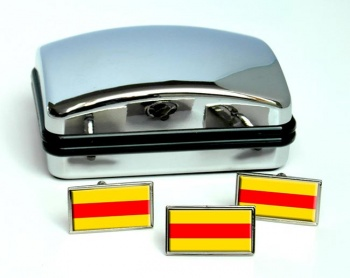 Baden (Germany) Flag Cufflink and Tie Pin Set