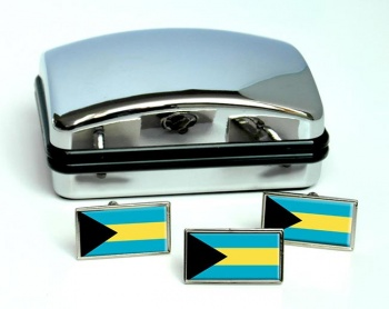 Bahamas Flag Cufflink and Tie Pin Set