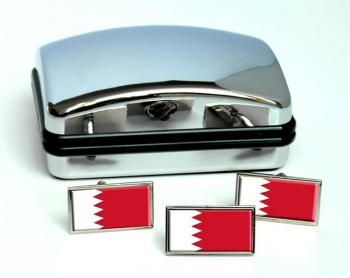 Bahrain  Flag Cufflink and Tie Pin Set