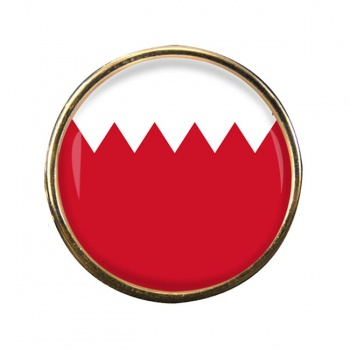 Bahrain Round Pin Badge