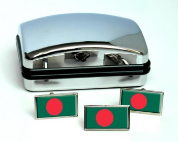 Bangladesh Flag Cufflink and Tie Pin Set