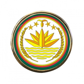 Bangladesh Round Pin Badge