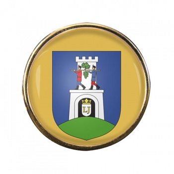 Baranya County Round Pin Badge
