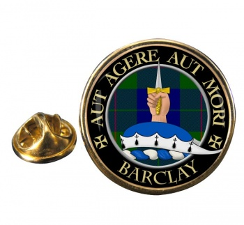 Barclay Scottish Clan Round Pin Badge