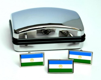 Bashkortostan Flag Cufflink and Tie Pin Set
