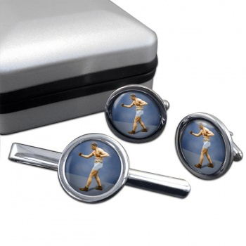 Bombardier Billy Wells Round Cufflink and Tie Clip Set