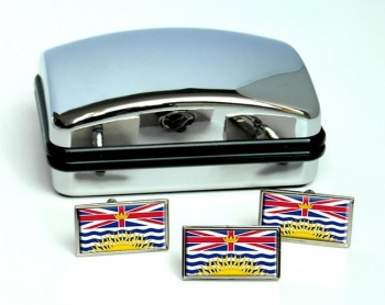 British Columbia (Canada) Flag Cufflink and Tie Pin Set