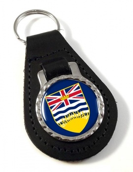 British Columbia (Canada) Leather Key Fob