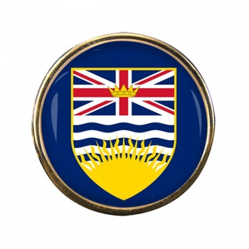 British Columbia (Canada) Round Pin Badge