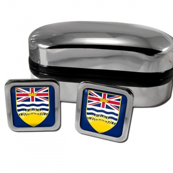 British Columbia (Canada) Square Crest Cufflinks