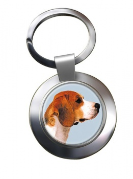 Beagle Metal Key Ring