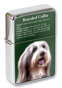 Bearded Collie Flip Top Lighter