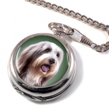 Bearded Collie Pocket Watch