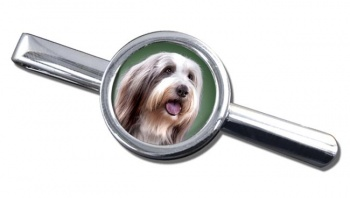 Bearded Collie Tie Clip