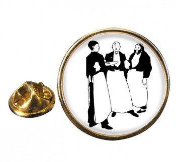 In the Cafe by Aubrey Beardsley Pin Badge