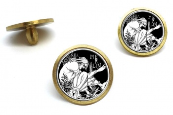 Merlin by Aubrey Beardsley Golf Ball Marker Set