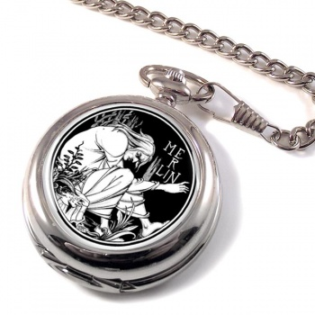 Merlin by Aubrey Beardsley Pocket Watch