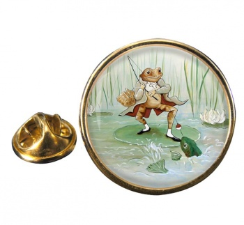 Angling Frog by Beatrix Potter  Pin Badge