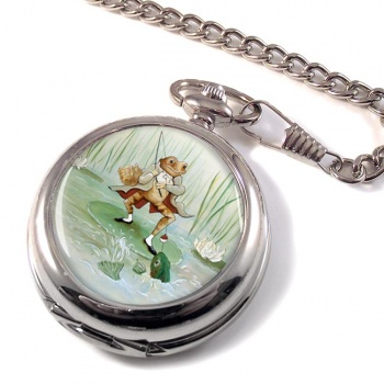 Angling Frog by Beatrix Potter  Pocket Watch