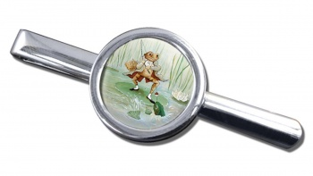 Angling Frog by Beatrix Potter  Round Tie Clip