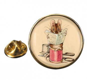 Tailor Mouse by Beatrix Potter Pin Badge