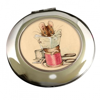 Tailor Mouse by Beatrix Potter Round Mirror