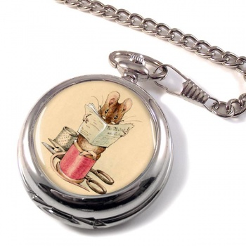 Tailor Mouse by Beatrix Potter Pocket Watch