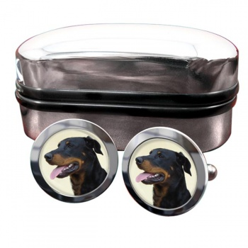 Beauceron  Round Cufflinks