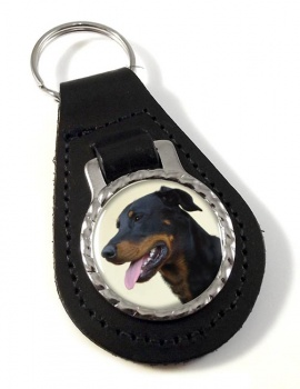 Beauceron Leather Key Fob