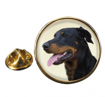Beauceron Round Pin Badge
