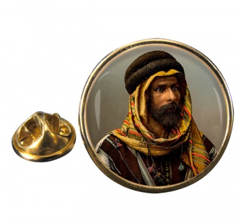 A Bedouin Chief Round Pin Badge