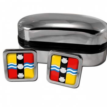 Bedfordshire County Square Cufflinks