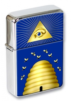Beehive Masonic Symbol Flip Top Lighter