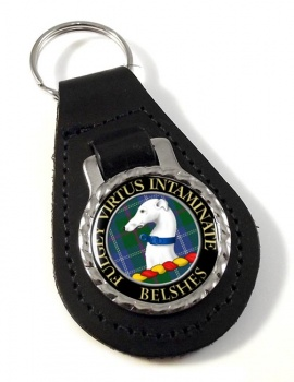 Belshes Scottish Clan Leather Key Fob