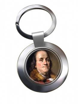 Benjamin Franklin Chrome Key Ring