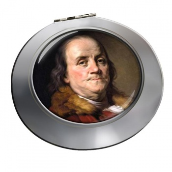 Benjamin Franklin Chrome Mirror
