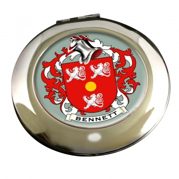 Bennett Coat of Arms Chrome Mirror