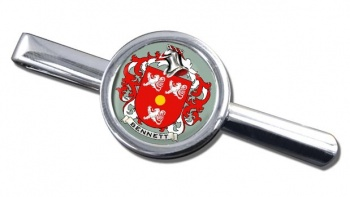 Bennett Coat of Arms Round Tie Clip