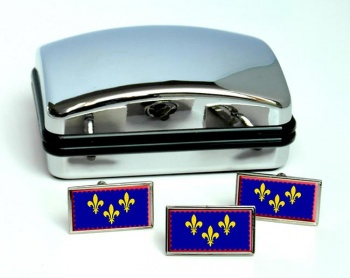 Berry (France) Flag Cufflink and Tie Pin Set