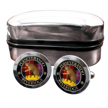 Beveridge Scottish Clan Round Cufflinks