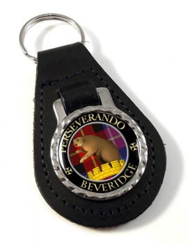 Beveridge Scottish Clan Leather Key Fob