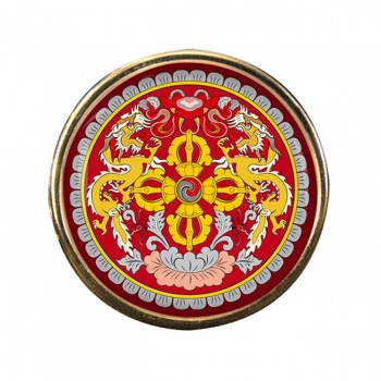 Bhutan Round Pin Badge
