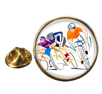 Bike Sprint Round Pin Badge