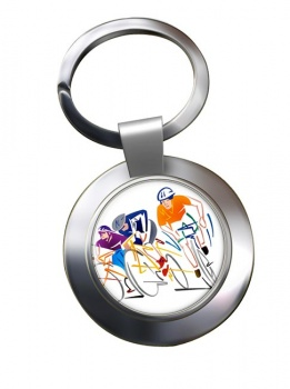 Bike Sprint Chrome Key Ring