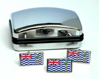 British Indian Ocean Territory Flag Cufflink and Tie Pin Set