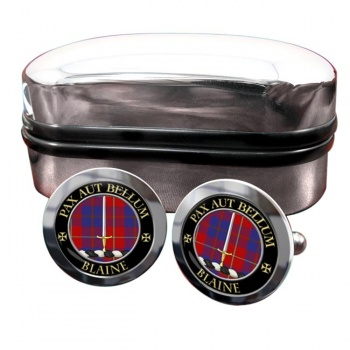 Blaine Scottish Clan Round Cufflinks