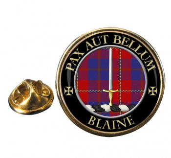 Blaine Scottish Clan Round Pin Badge