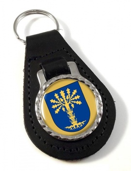 Blekinge (Sweden) Leather Key Fob